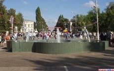 Фонтан в день города Кирсанов