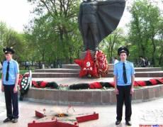Мемориал после возложения венков