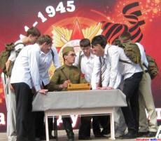 Военком с призывниками