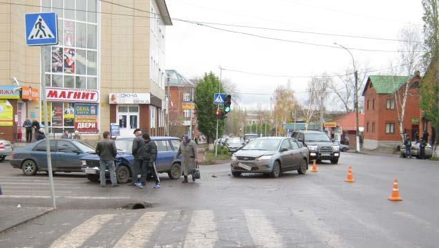 фото Кирсанов очередное ДТП на перекрестке
