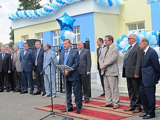 В. А. Зубков на открытии бассейна в Кирсанове